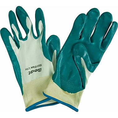 Nitri-Flex Lite Nitrile Palm Coated Gloves, SQ137, Seamless Nylon, 36/Pack