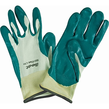 Nitri-Flex Lite Nitrile Palm Coated Gloves, SQ139, Seamless Nylon, 36/Pack