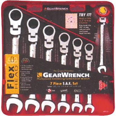 Flexible Ratcheting Wrench Set - 7 Pieces, Wrench Set, TDS843
