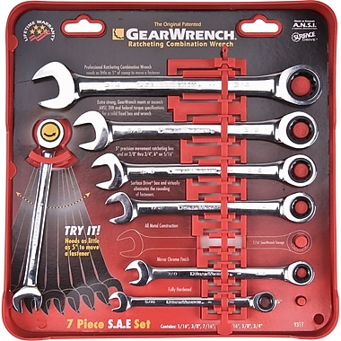 Combination Ratcheting Wrench Set - 7 Pieces, Wrench Set, TDS903