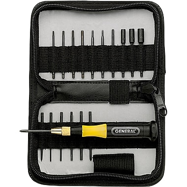 18-Pc. Precision Ultratech Screwdriver Sets, Screwdriver Slot, Square, Phillips, TLZ550, 2/Pack
