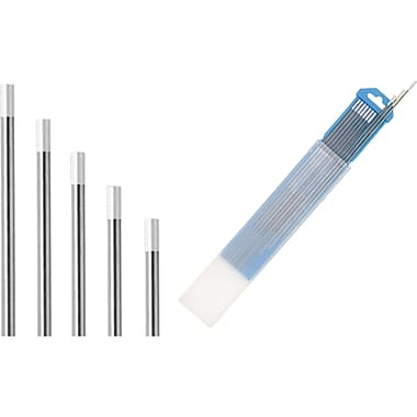 Tungsten Electrodes, NP547, ISO Colour Chart, White AWS A5.12 EWZr-8 ISO 6848 WZ8, 20/Pack
