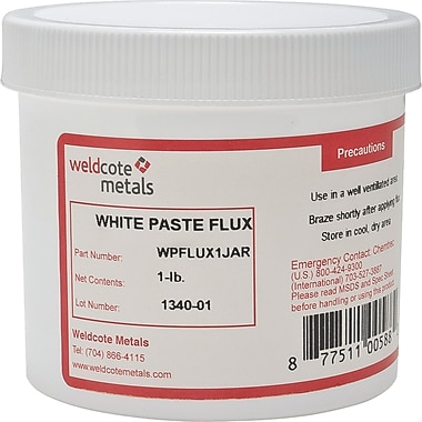 White Paste Brazing Flux, TTU908, 6/Pack