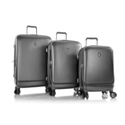 Heys Portal Pewter 100% Polycarbonate Smart Luggage 3 Pc Set (15017-0044-S3)