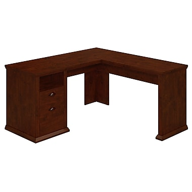Bush Yorktown 60W L-Desk, Antique Cherry