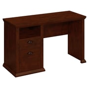 Bush Yorktown Single Pedestal Desk, Antique Cherry