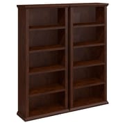 Bush Yorktown Bookcases - Set of Two, Antique Cherry