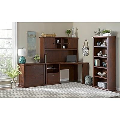 Bush Furniture Yorktown Collection 60W Corner Desk, Antique Cherry (WC40315-03)