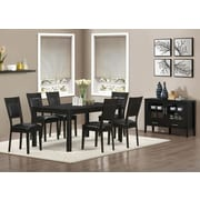 """Monarch Specialties 2-Piece 39""""H Dining Chair with Brown Seat, Cappucino (I 1495)"""