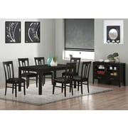 "Monarch Specialties 39""H 2-Piece Dining Chair Set, Cappucino, Brown Seat (I 1496)"