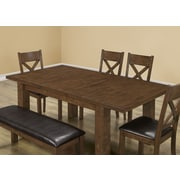 "Monarch Specialties 42"" x 60"" x 78"" Dining Table, Walnut Veneer (I 1550)"
