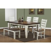 """Monarch Specialties 2-Piece 40""""H oak Dining Chair, Antique White (I 1853)"""