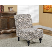 Monarch Specialties Traditional style Fabric Accent Chair, Earth Tone (I 8126)
