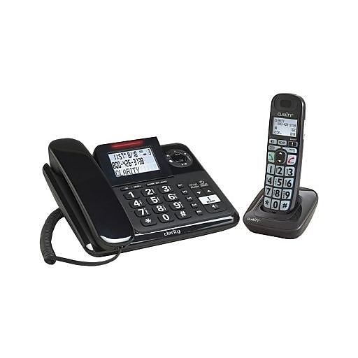 Clarity CLAR53727 Amplified Corded and Cordless Combo Phone System with Digital Answering System