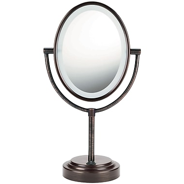 Conair Double-Sided Lighted Mirror, Oiled Bronze (CNRBE47BR)