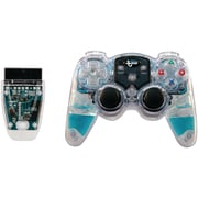 DREAMGEAR DRM524 Lava Glow Wireless Controller for Playstation 2, Blue