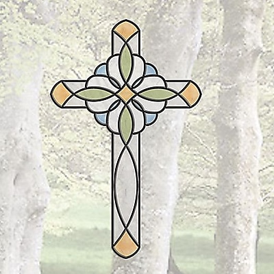 Brewster Home Fashions Window Decor Peel and Stick Cross Window Sticker