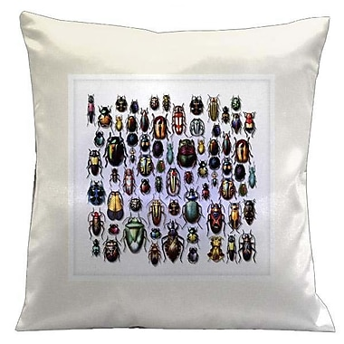 Lama Kasso Botanic Beetles Microsuede Throw Pillow