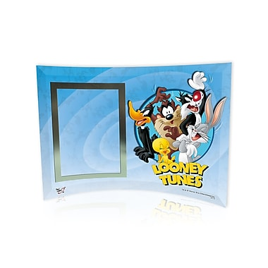 Trend Setters Looney Tunes (Group) Curved Glass Print w/ Photo Frame