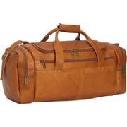 David King 19'' Leather Classic Travel Duffel; Tan