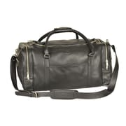 Aston Leather 22'' Leather Travel Duffel; Black