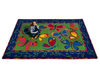 Kid Carpet Learning on the Fly Kids Rug; Rectangle 4' x 6'