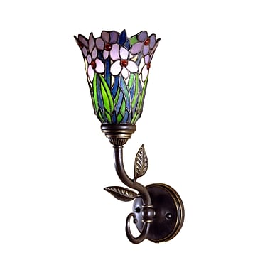 Dale Tiffany Mende Series 1-Light Meadowbrook Wall Sconce
