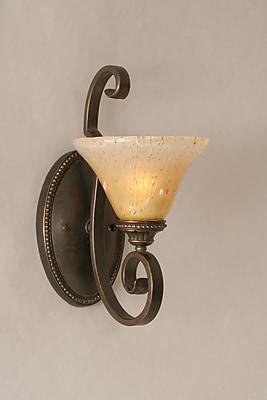 Toltec Lighting Elegante 1-Light Armed Sconce