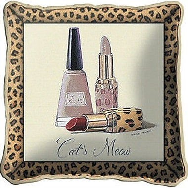 Fine Art Tapestries Cats Meow Throw Pillow
