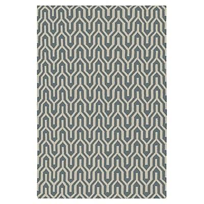 Jill Rosenwald Rugs Fallon Hand-Woven Khaki Green/White Area Rug; Rectangle 3'6'' x 5'6''