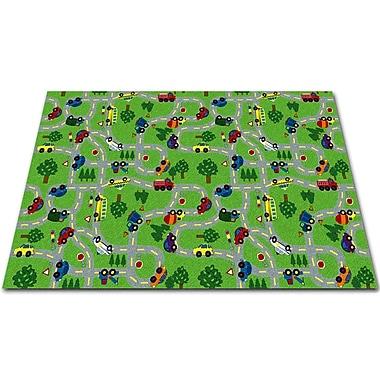Kid Carpet On The Go Green Indoor/Outdoor Area Rug; Rectangle 8' x 12'