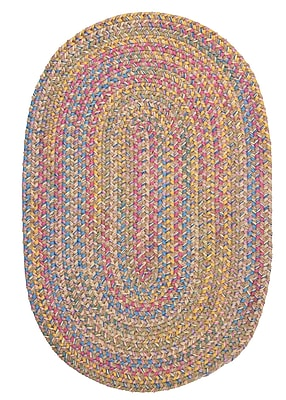 Colonial Mills Botanical Isle Sand Area Rug; Oval 10' x 13'