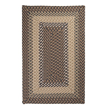 Colonial Mills Tiburon Stone & Blue Braided Indoor/Outdoor Area Rug; Square 4'