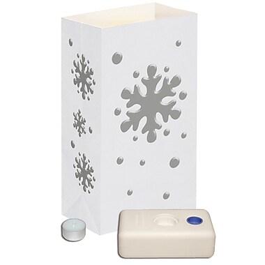 Luminarias Snowflake Candle Luminaria Kit (Set of 12)