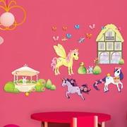 Mona Melisa Designs Pony Unicorn Friends Wall Decal