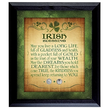 American Coin Treasure Irish Blessing w/ 2 Three Pence Framed Memorabilia