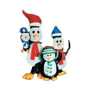 LB International Inflatable Penquin Family Christmas Decoration