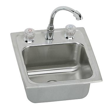 Elkay Lustertone 15'' x 15'' Gourmet Self Rimming Bar Sink w/ Faucet