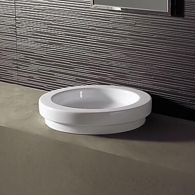 Bissonnet Area Boutique Logic 43 Ceramic Circular Vessel Bathroom Sink