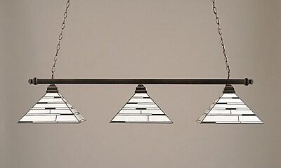 Toltec Lighting 3-Light Square Kitchen Island Pendant; Black Copper