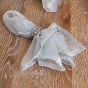 Saro Crushed Tissue Decorative Napkin (Set of 12); Grey