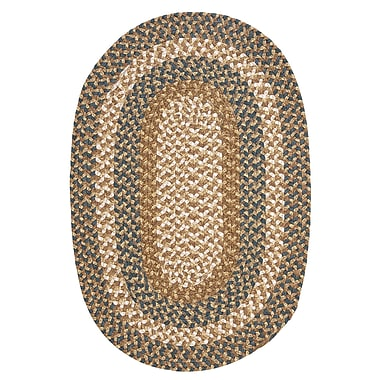 Colonial Mills Fabric Multi Blue/Beige Area Rug; Oval 5' x 7'