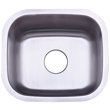 Kingston Brass Country 17.81'' x 15.63'' Gourmetier Single Bowl Undermount Kitchen Sink