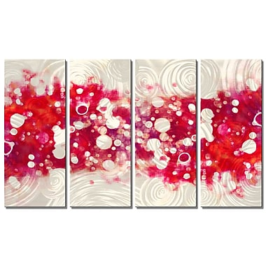 All My Walls Drip Brokeh by Christopher Price 4 Piece Graphic Art Plaque Set; Magenta