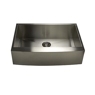 Pro Series 33'' x 21'' x 10'' Single Bowl Farmhouse Apron Front Stainless Steel Kitchen Sink