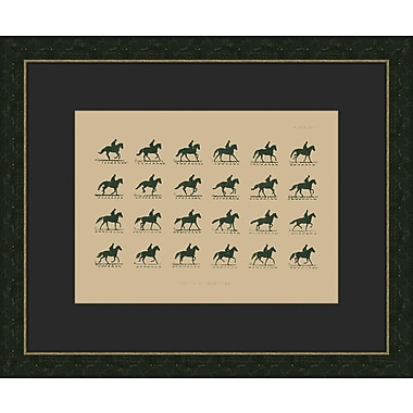 Melissa Van Hise Muybridge Riders lV Framed Graphic Art