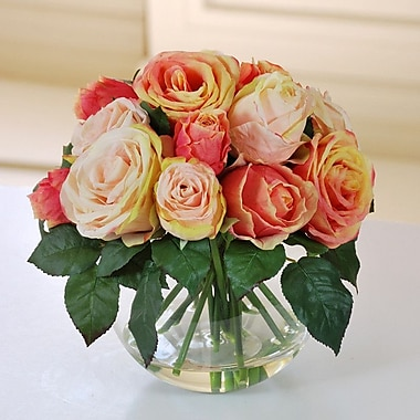 Jane Seymour Botanicals Roses in Bubble Bowl