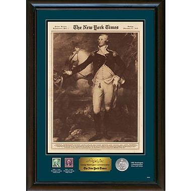 American Coin Treasure New York Times George Washington Commemorative Framed Memorabilia