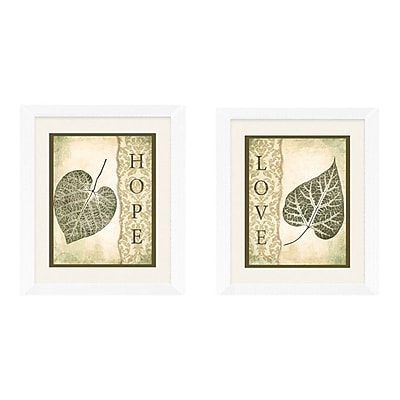 PTM Images Love and Hope 2 Piece Framed Graphic Art Set