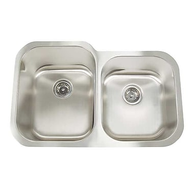 Artisan Sinks Premium Series 31'' x 20'' Double Bowl Undermount Kitchen Sink